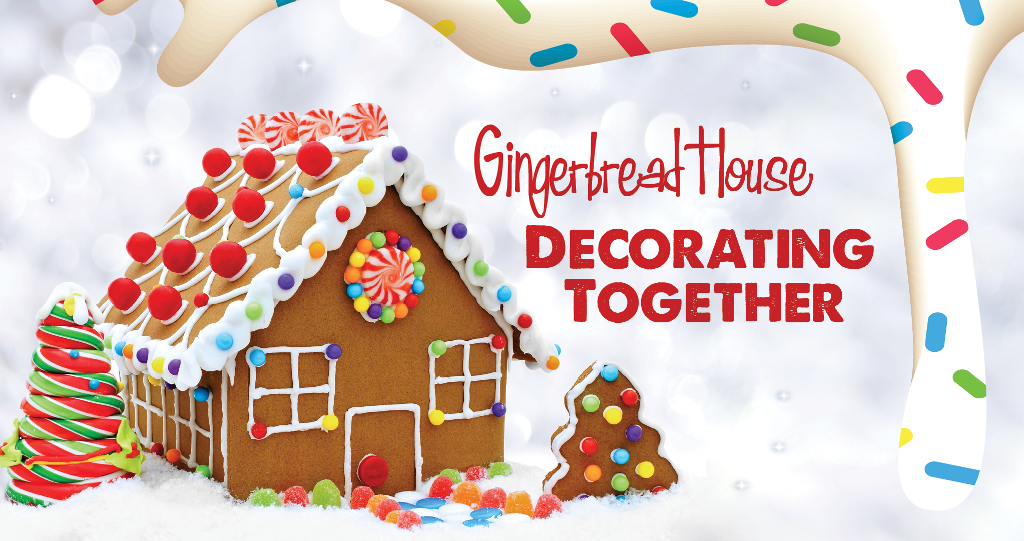 Gingerbread House Decorating Together